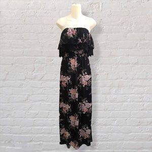 American Eagle Boho Strapless Maxi Dress Small